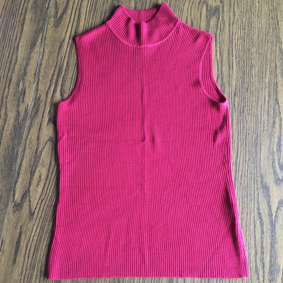Dana Buchman Sweaters - Dana Buchman Sleeveless Red Sweater